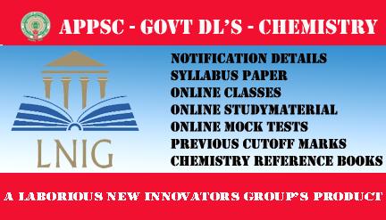 APPSC GOVT DL'S CHEMISTRY