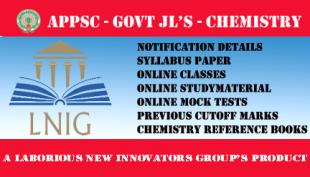 APPSC GOVT JL'S CHEMISTRY