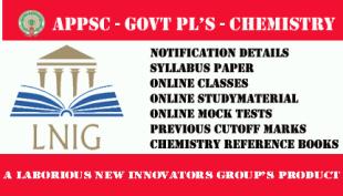 APPSC GOVT PL'S CHEMISTRY