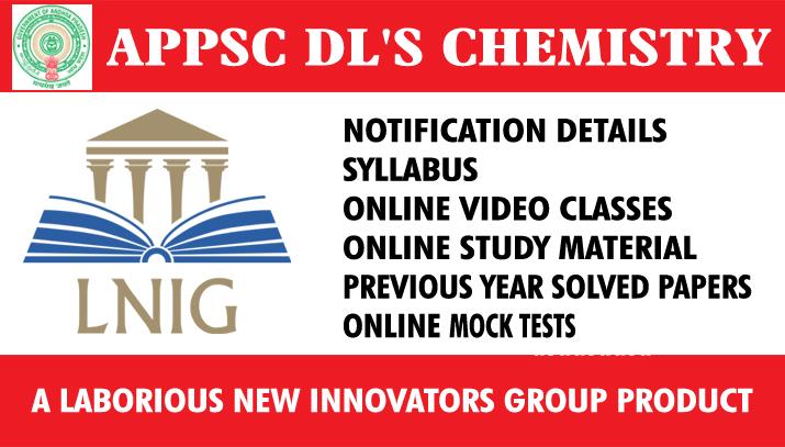 06. APPSC DL'S CHEMISTRY